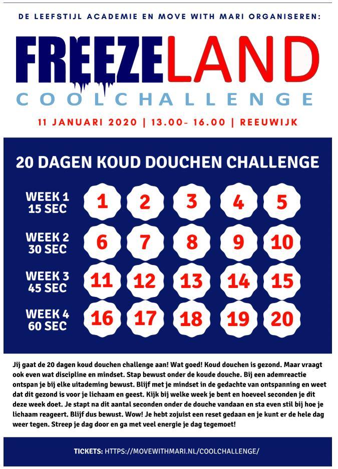 freezeland challenge koud douchen